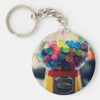 Candy bubblegum toy machine retro key ring