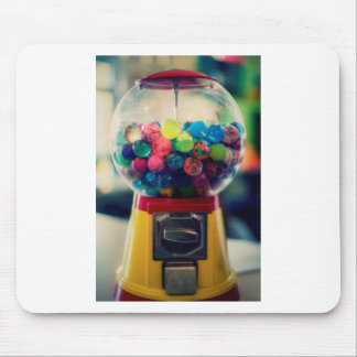 Candy bubblegum toy machine retro mouse pad
