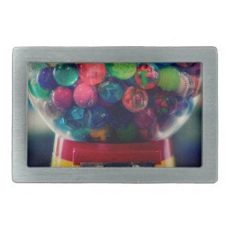 Candy bubblegum toy machine retro rectangular belt buckle