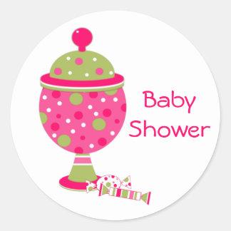 Candy Buffet Baby Shower Envelope Seal Round Sticker