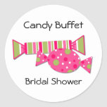 Candy Buffet Bridal Shower Envelope Seal Round Sticker