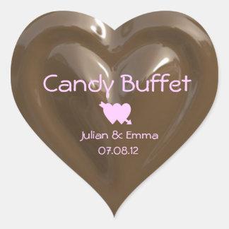 candy buffet chocolate heart sticker CUSTOMIZABLE