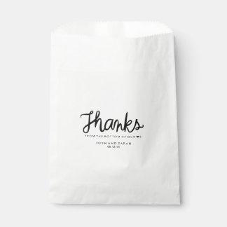 Candy buffet favor bag favour bags