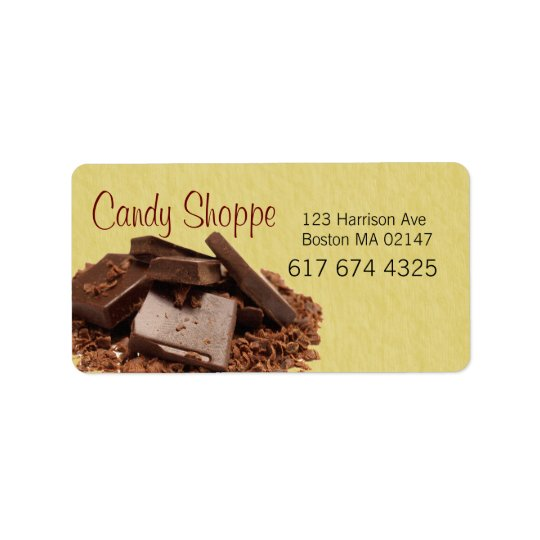 candy business labels