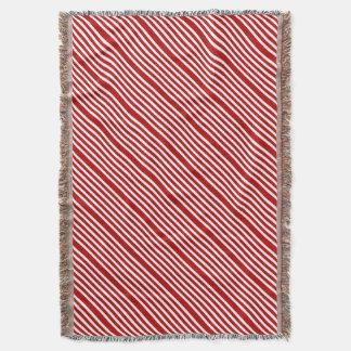CANDY CANE a Christmas stripe design Throw Blanket