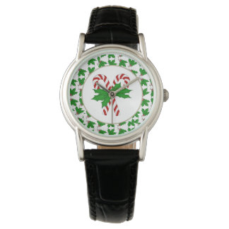 Candy Cane and Holly Watch