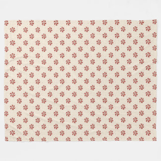 Candy Cane Candies Fleece Blanket