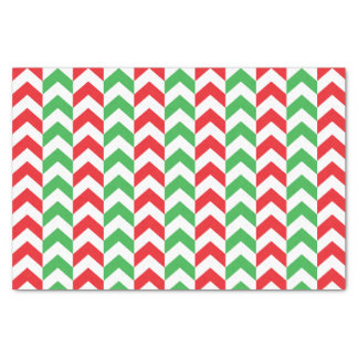 Candy Cane Chevrons Tissue Paper