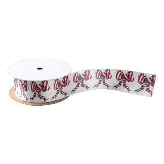 Candy Cane Christmas Bow Ribbon Satin Ribbon