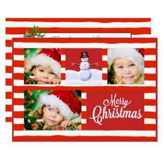 Candy Cane Christmas Card