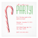 Candy Cane Christmas Party Invitations
