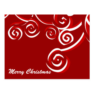 Candy Cane Christmas Postcard