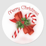 Candy Cane Christmas Stickers