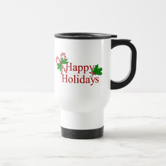 Candy Cane Collection Happy Holidays Coffee Mug