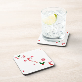 Candy Cane Drink Coasters