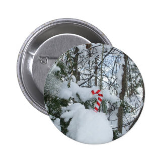 Candy Cane Decoration 6 Cm Round Badge