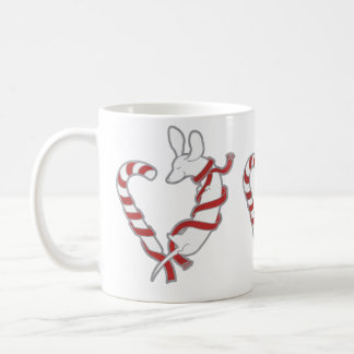 Candy Cane Doxie Basic White Mug