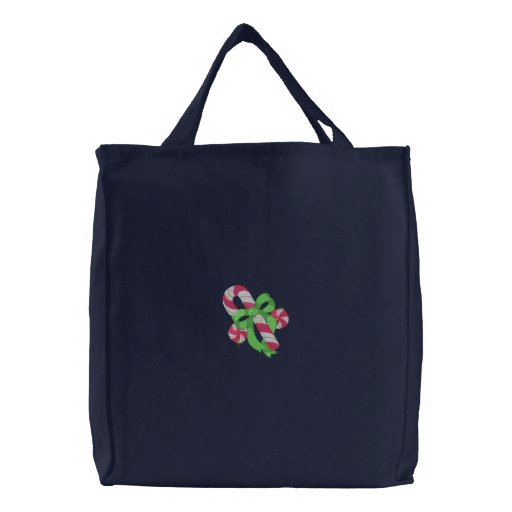 Candy Cane Embroidered Bag