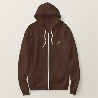 Candy Cane Embroidered Hoodie