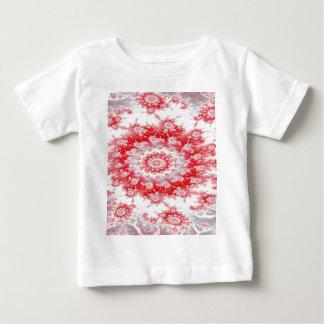 Candy Cane Flower Swirl Fractal Baby T-Shirt
