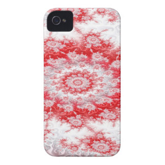 Candy Cane Flower Swirl Fractal iPhone 4 Covers