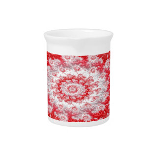 Candy Cane Flower Swirl Fractal Pitcher