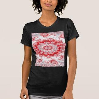 Candy Cane Flower Swirl Fractal T-Shirt