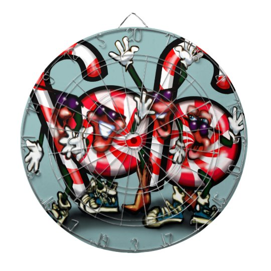 Candy Cane Gang Dartboard