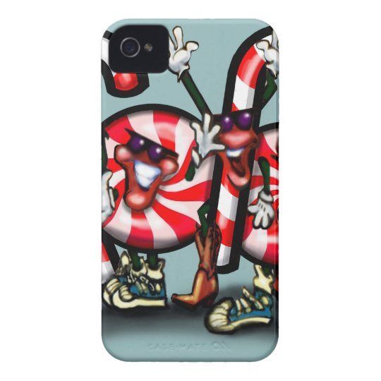 Candy Cane Gang iPhone 4 Case-Mate Case