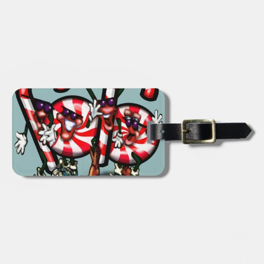 Candy Cane Gang Luggage Tag
