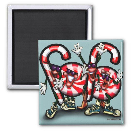 Candy Cane Gang Magnet