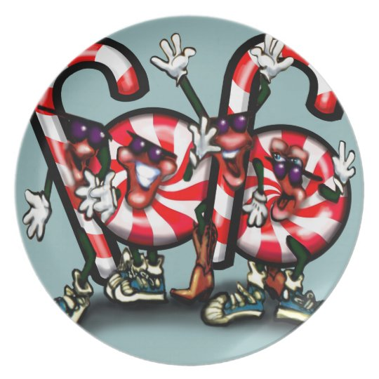 Candy Cane Gang Plate