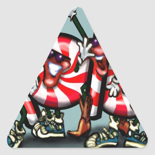 Candy Cane Gang Triangle Sticker