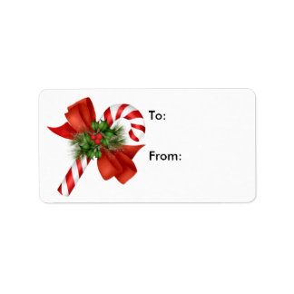 Candy Cane Gift Tag - Label