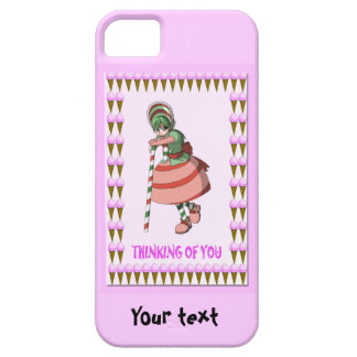 Candy Cane girl with ice creams Barely There iPhone 5 Case