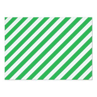 Candy Cane Green Stripes 13 Cm X 18 Cm Invitation Card