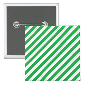 Candy Cane Green Stripes Pinback Buttons