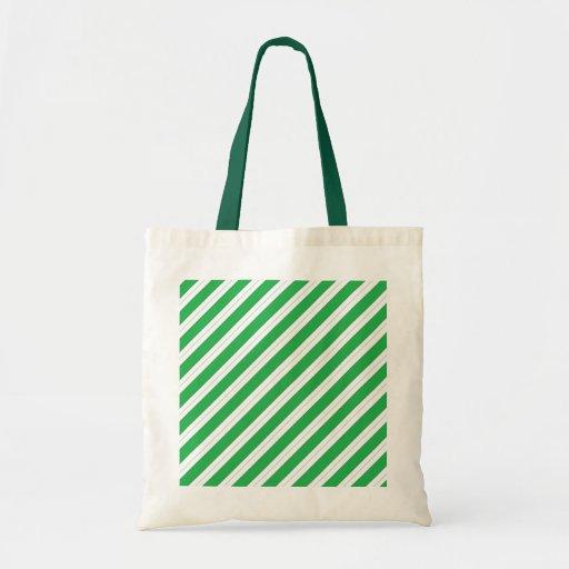 Candy Cane Green Stripes Bag