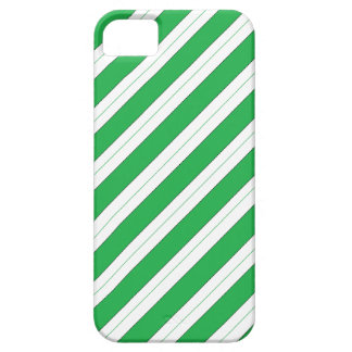 Candy Cane Green Stripes Barely There iPhone 5 Case