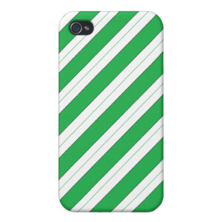 Candy Cane Green Stripes iPhone 4/4S Cover