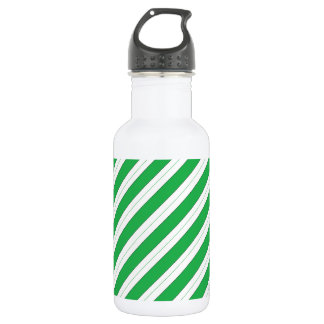 Candy Cane Green Stripes 532 Ml Water Bottle