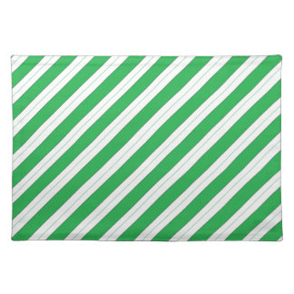 Candy Cane Green Stripes Placemats