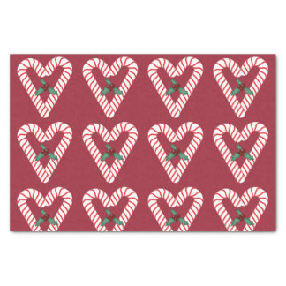 Candy Cane Hearts Tissue Paper