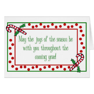 Candy Cane Holiday Greeting Card