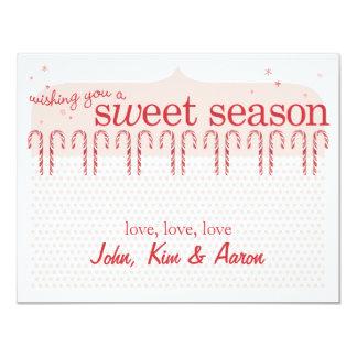 Candy Cane Holiday Card 11 Cm X 14 Cm Invitation Card