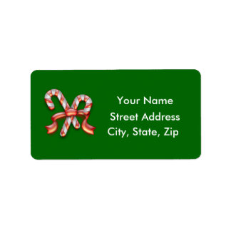 Candy Cane Holiday Labels