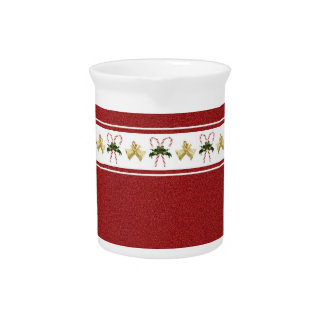 Candy Cane Holiday Pitcher