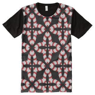 Candy cane kaleidoscope All-Over print T-Shirt
