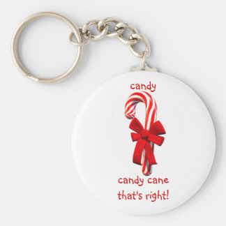 Candy Cane Keychain