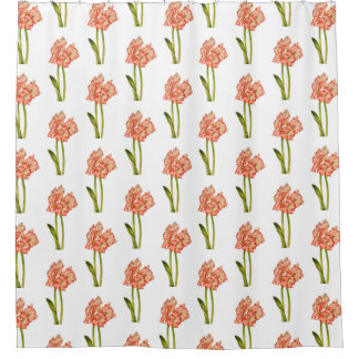 Candy Cane Lilies on a Shower Curtain